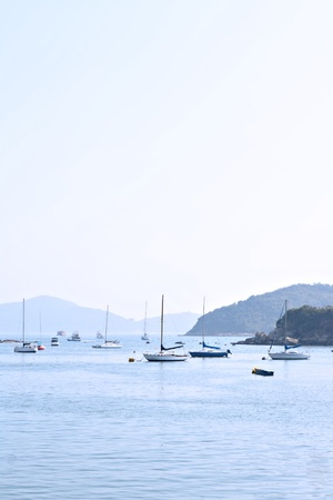 yacht in bay photo