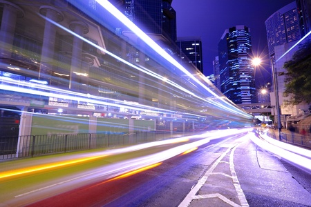 the night city: traffic in city at night