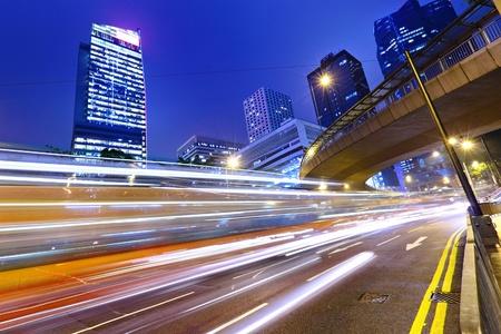 motion: modern city at night