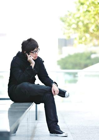 man talking on mobile phone Stock Photo - 9246341