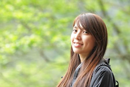 beautiful girl outdoors photo