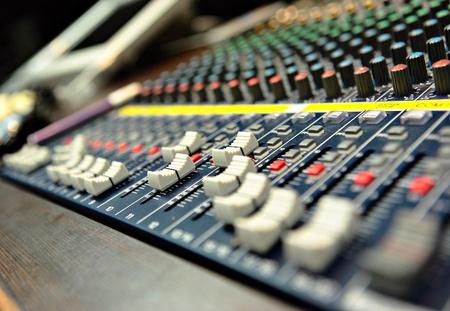 sound mixer with sliders photo