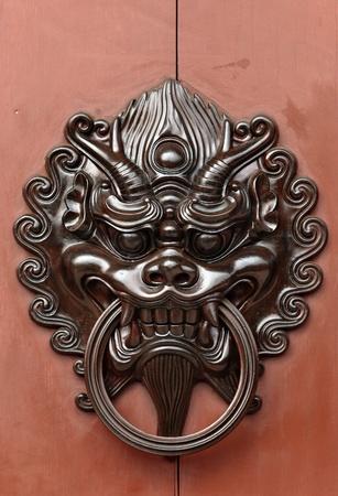 lion door lock Stock Photo - 9512369