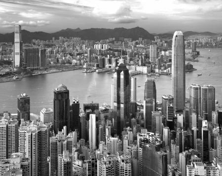 Hong Kong , black and white photo
