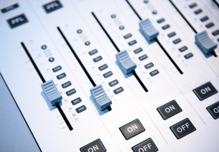 volume knob: sound mixer Stock Photo