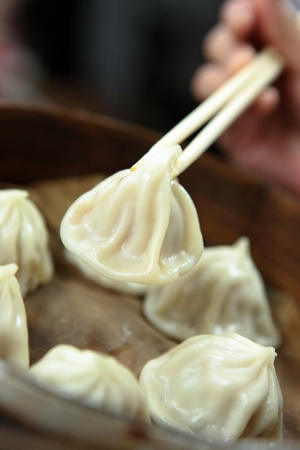 dim: chinese dim sum, meat dumping