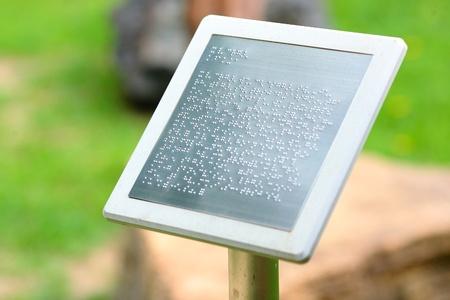 braille: Simple aviso de Braille Foto de archivo