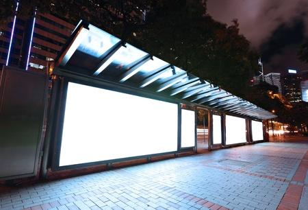 blank billboard: Leere Billboard in der Nacht