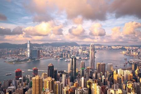 Hong Kong landmark view from the peak photo