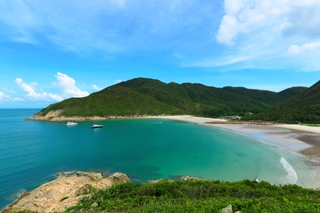 Sai Wan beach in Hong Kong photo