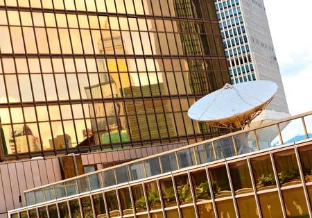 ferrous foundry: satellite receiver on building