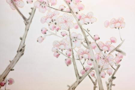 flores chinas: Fondo de Cerezo de estilo chino