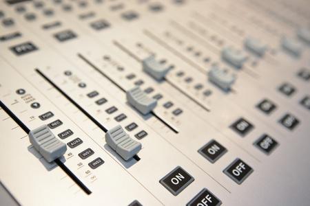 audio mixing console photo