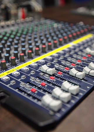audio mixing console photo