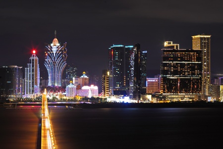 macau: Macau at night Editorial