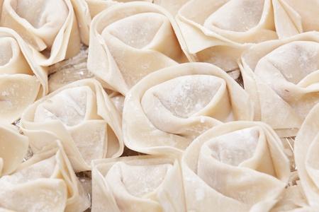 Fresh hand made Chinese dumplings photo