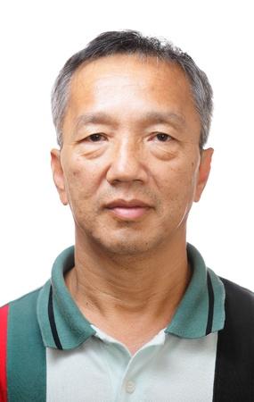 Happy 60s Senior Asian man photo
