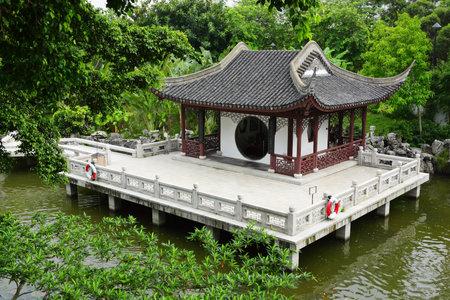bamboo house: chinese garden Editorial