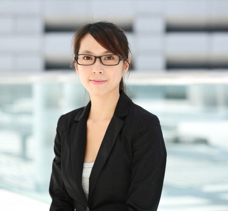 professionals: young business woman Stock Photo