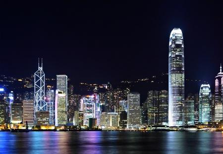 hong kong night: Hong Kong Skyline