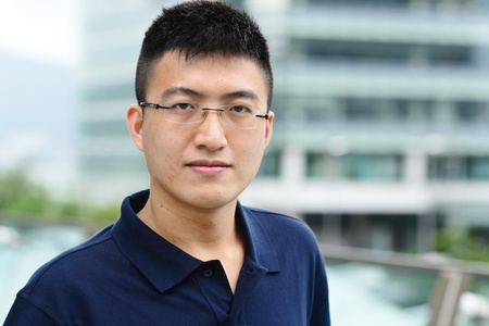 young asian man photo