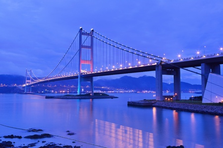 ma: Tsing Ma Bridge night view