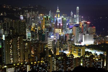 Hong Kong at night Stock Photo - 10118331