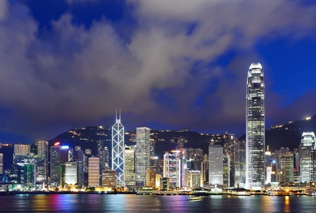 Night scene of Hong Kong photo