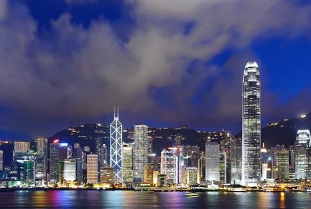 Night scene of Hong Kong Stock Photo