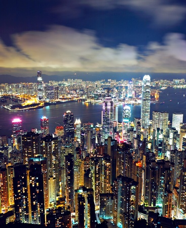 kong: Hong Kong at night Stock Photo