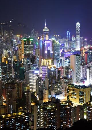 Hong Kong by night Stock Photo - 10283068