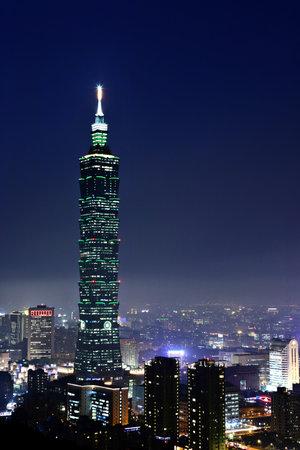 taipei: taipei city at night