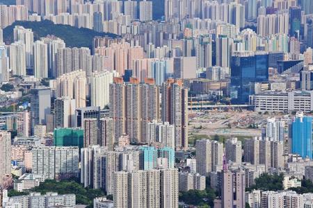 Hong Kong crowded building Stock Photo - 10359199