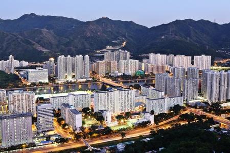 residential buildings in night photo