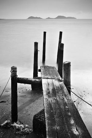 pier lonely abstract photo