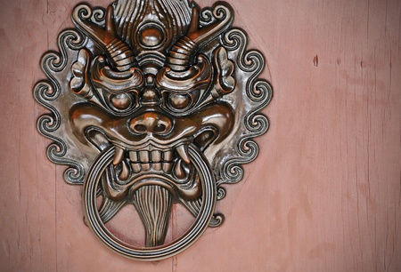 oriental door knocker photo