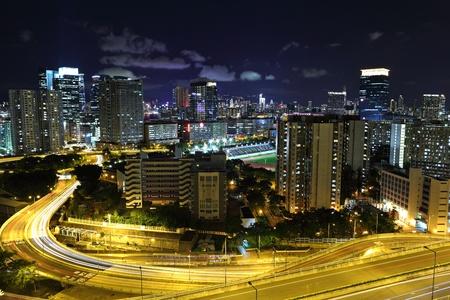 hong kong city: Hong Kong downtown at night