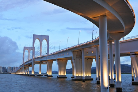 puente: Sai Van puente Foto de archivo