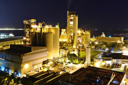 steel factory: cement factory