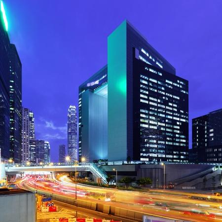building at night in hong kong Stock Photo - 10552750