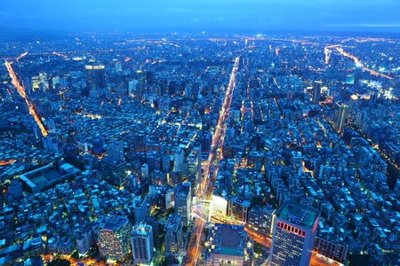 city by night: taipei city at night