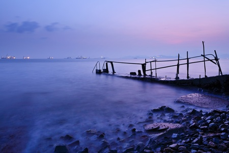 magic hour: sunset pier