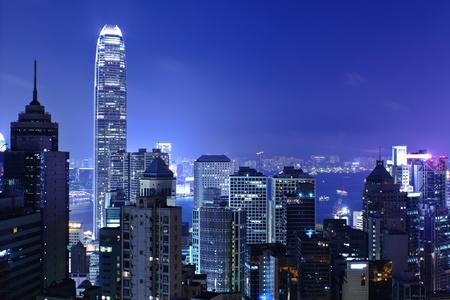 Hong Kong bei Nacht