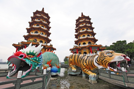 multiples: Dragon Tiger Tower Stock Photo