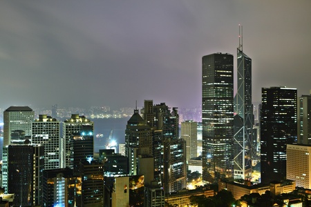 Hong Kong at mid night Stock Photo - 10648783