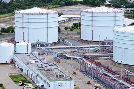 Oil product storage tanks photo