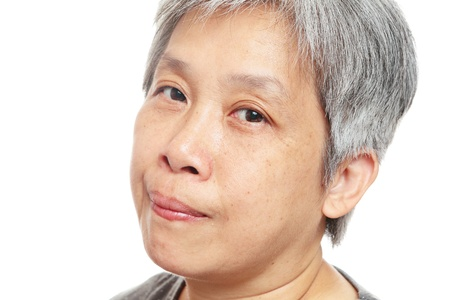 casual senior woman photo
