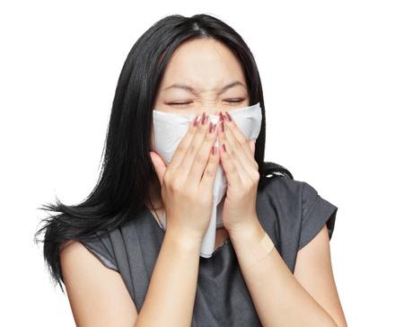 sneeze girl Stock Photo - 10765779