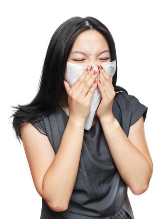 sneeze girl Stock Photo - 10765786