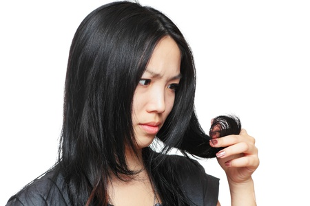 hair problem: Young woman have hair problem